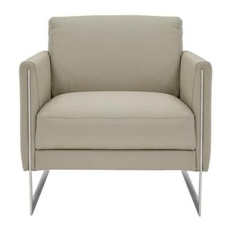 Coco Gray Leather Accent Chair