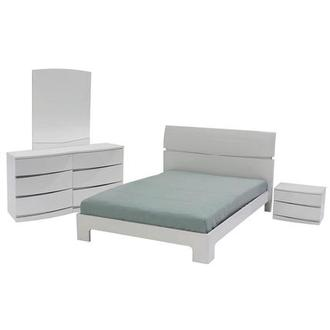 Marvelous Brighton White 4 Piece Queen Bedroom Set