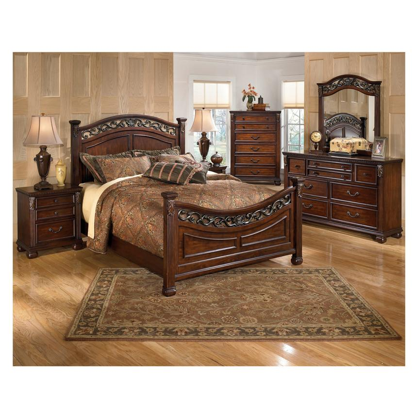 Leahlyn 4 Piece King Bedroom Set Alternate Image 2 Of 6 Images