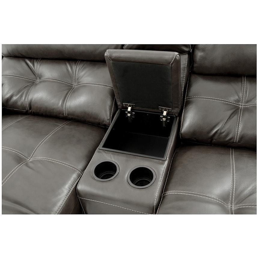 Stallion Gray Power Motion Leather Sofa W Right Amp Left