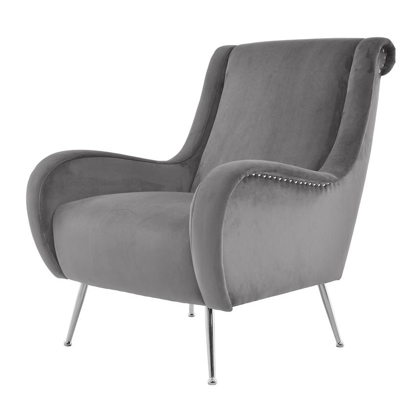 Morgan Gray Accent Chair  alternate image, 2 of 6 images.