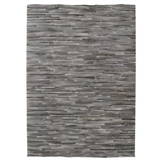 Capri Gray Cowhide Patchwork 6' x 9' Area Rug
