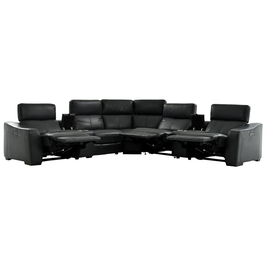 Jay Dark Gray Power Motion Leather Sofa W Right Amp Left