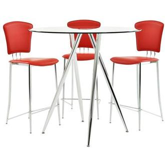 Latika/New Tracy Red 4-Piece High Dining Set