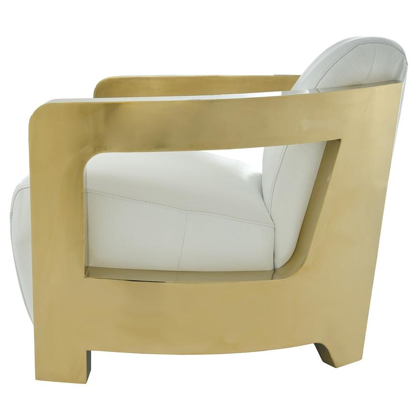 Aviator Gold Leather Accent Chair  alternate image, 3 of 7 images.