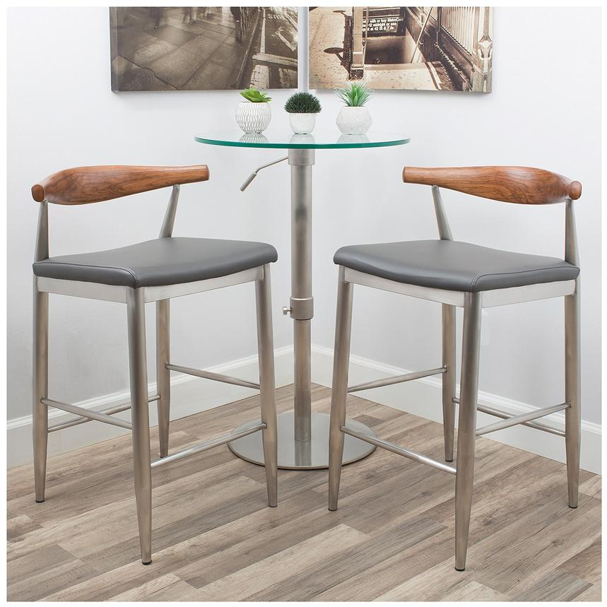 Timber Gray Counter Stool  alternate image, 2 of 7 images.