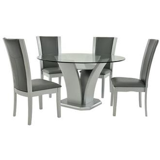 Daisy Silver 5-Piece Casual Dining Set