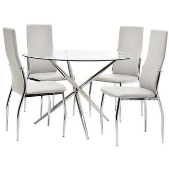 Exceptional Patricia/Luna White 5 Piece Casual Dining Set