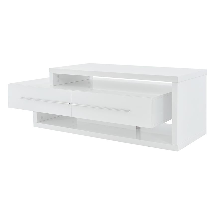 Avanti White Coffee Table W Casters El Dorado Furniture