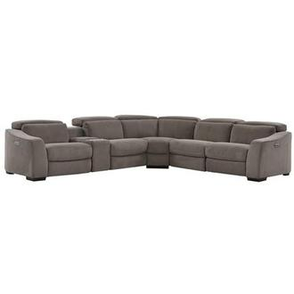 Jameson Dark Gray Power Motion Sofa w/Right & Left Recliners