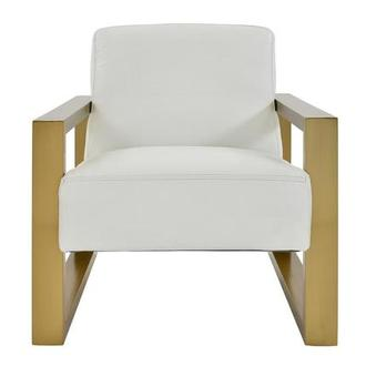 Lexus White Leather Accent Chair