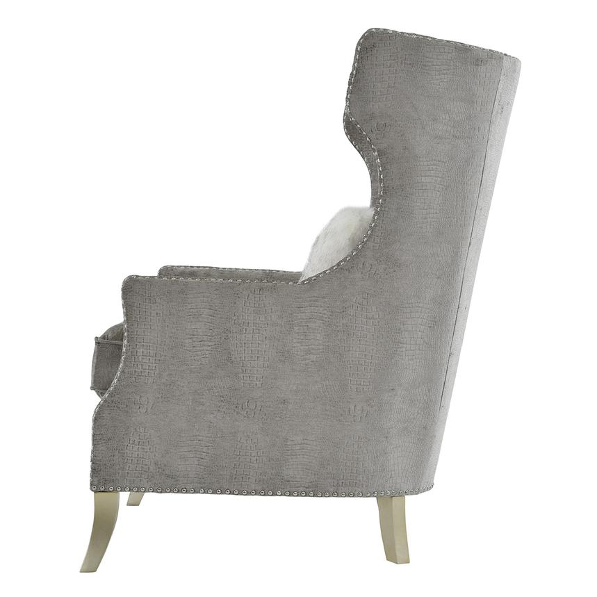 Sonia Gray Accent Chair  alternate image, 3 of 7 images.
