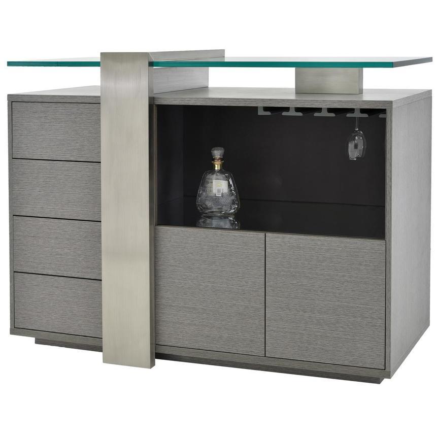 Totem Gray Bar Cabinet El Dorado Furniture