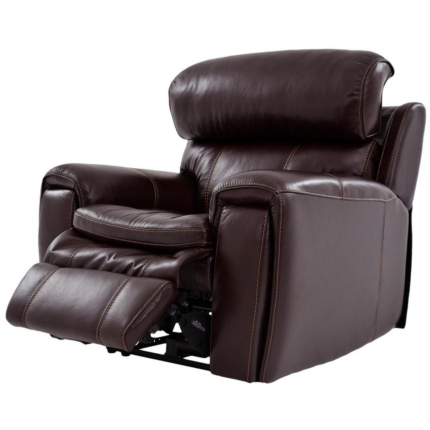 Napa Power Motion Leather Recliner  alternate image, 3 of 7 images.
