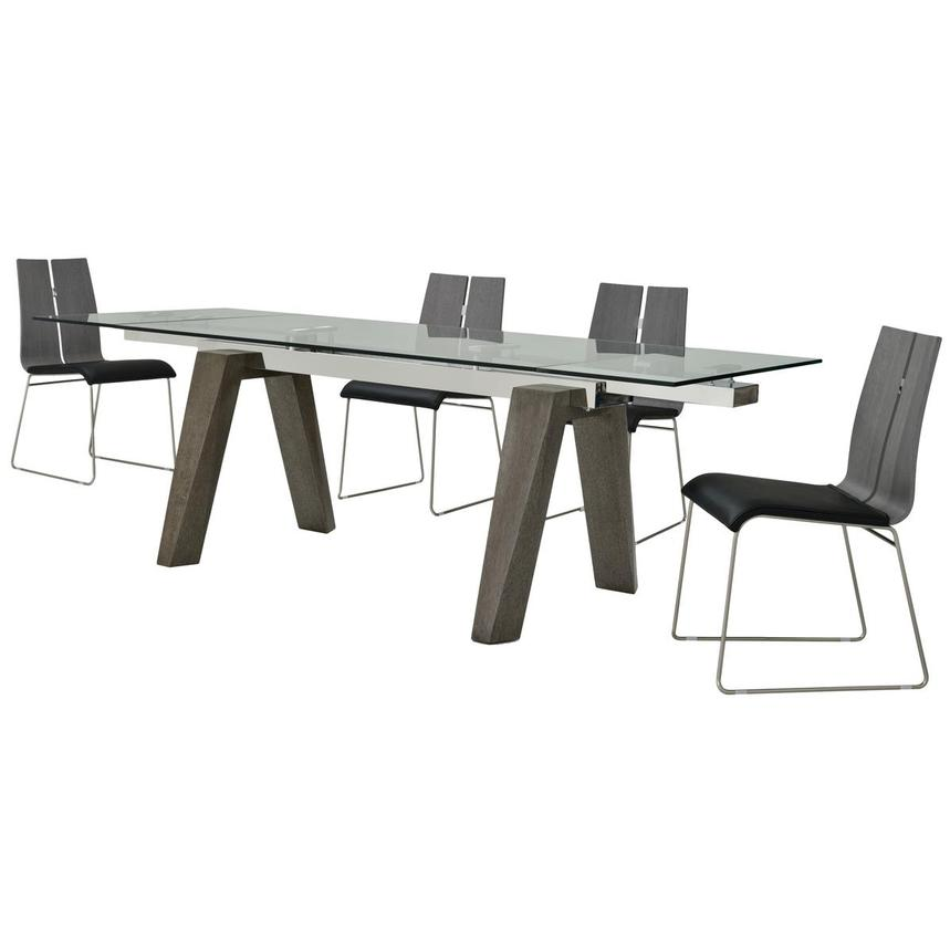 Valencia Gray/Black II 5-Piece Formal Dining Set  alternate image, 2 of 15 images.