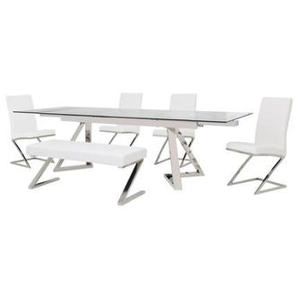 Suri/Jade White 6-Piece Formal Dining Set