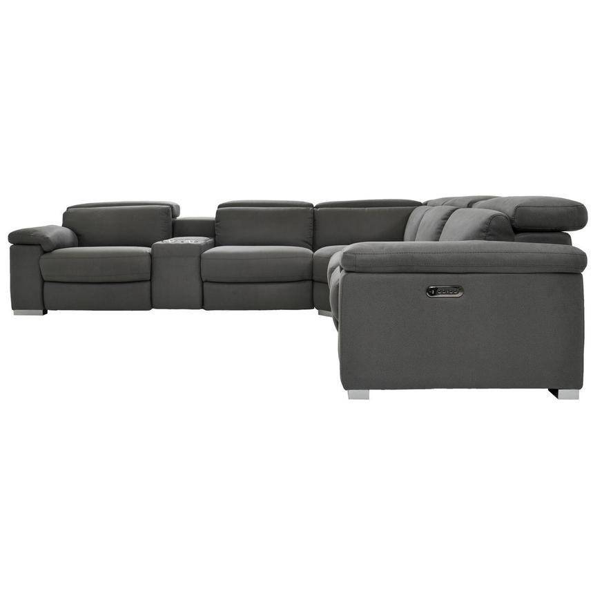Karly Dark Gray Power Motion Sofa w/Right & Left Recliners  alternate image, 3 of 8 images.