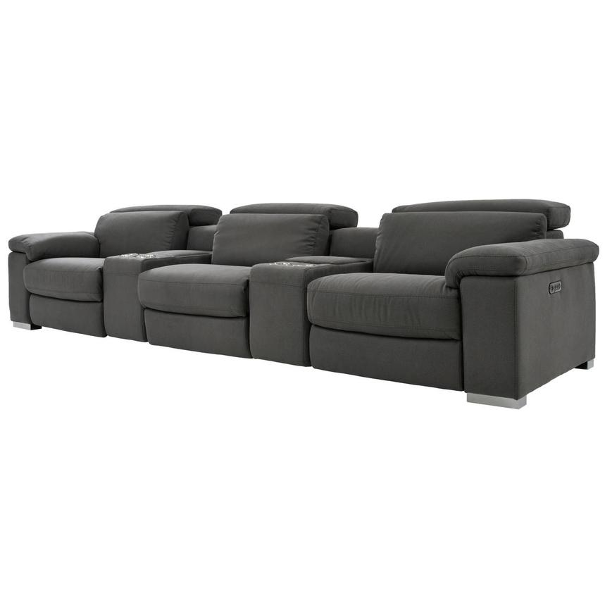 Karly Dark Gray Home Theater Seating  alternate image, 2 of 9 images.