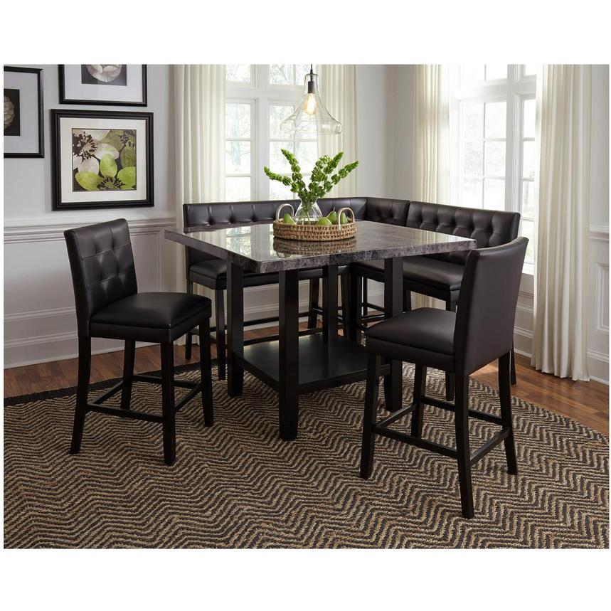 caspian 5 piece high dining set el dorado furniture. Black Bedroom Furniture Sets. Home Design Ideas