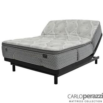 Corvara Full Mattress w/Essentials III Powered Base by Serta