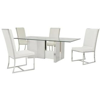 Rialto/Sofitel White 5-Piece Formal Dining Set