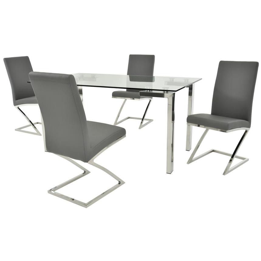 Julli/Jade Gray 5 Piece Casual Dining Set Main Image, 1 Of 12