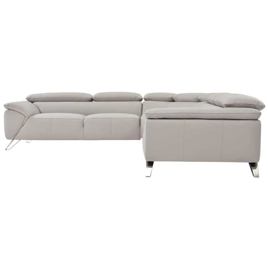 Tesla Gray Leather Sofa  alternate image, 3 of 6 images.