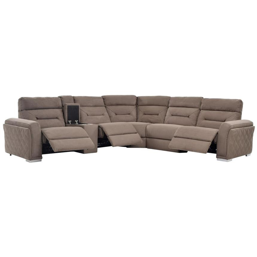 Kim Brown Power Motion Sofa W/Right U0026 Left Recliners Alternate Image, 2 Of