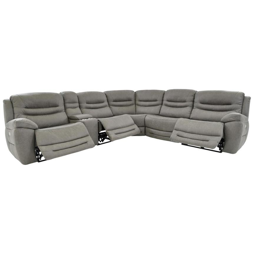 Dan Gray Power Motion Sofa w/Right & Left Recliners  alternate image, 2 of 8 images.
