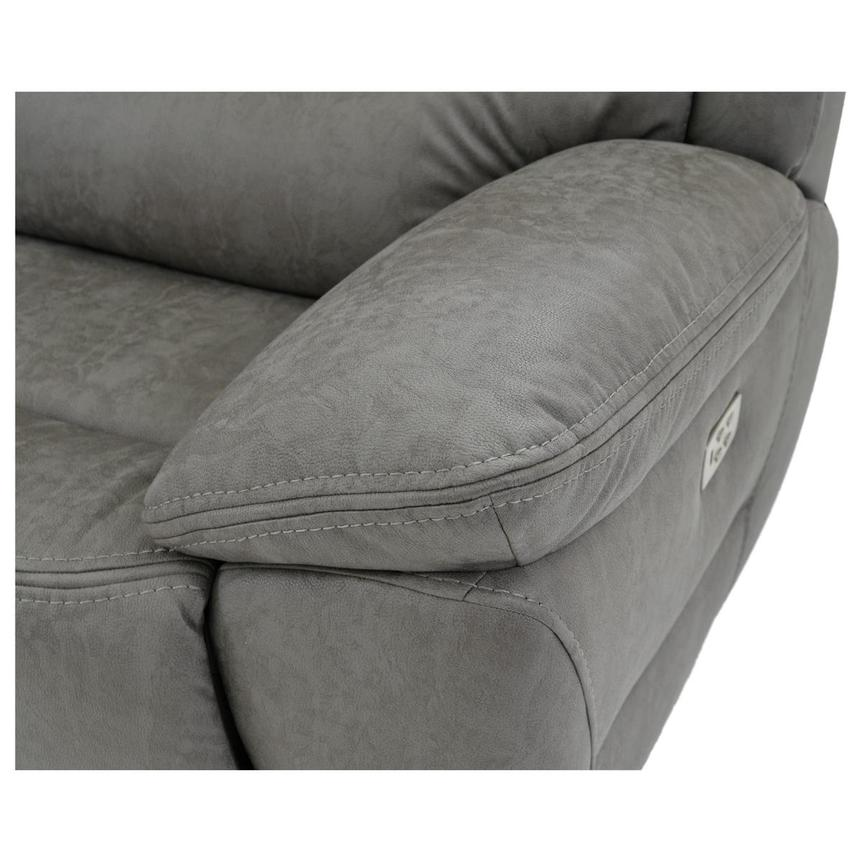 Dan Gray Power Motion Sofa w/Right & Left Recliners  alternate image, 7 of 8 images.