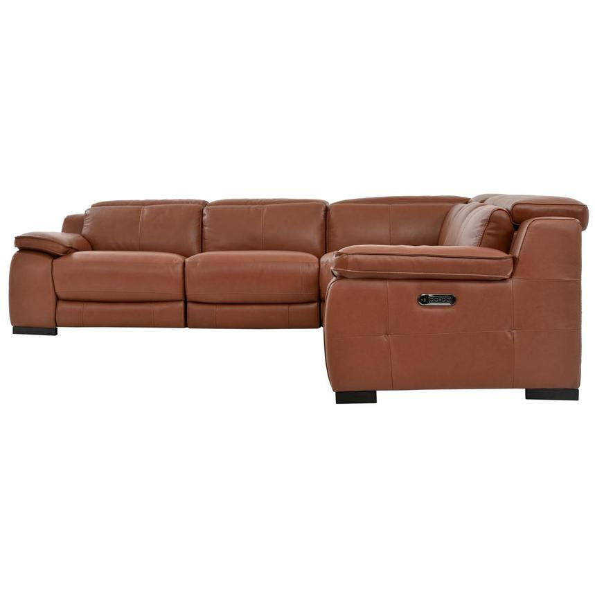 Gian Marco Tan Power Motion Leather Sofa w/Right, Left & Armless Recliners  alternate image, 3 of 7 images.