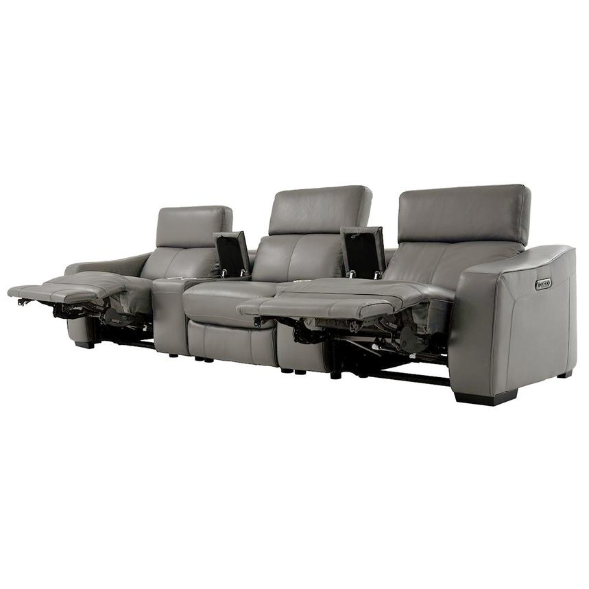 Jay Gray Home Theater Leather Seating  alternate image, 3 of 8 images.