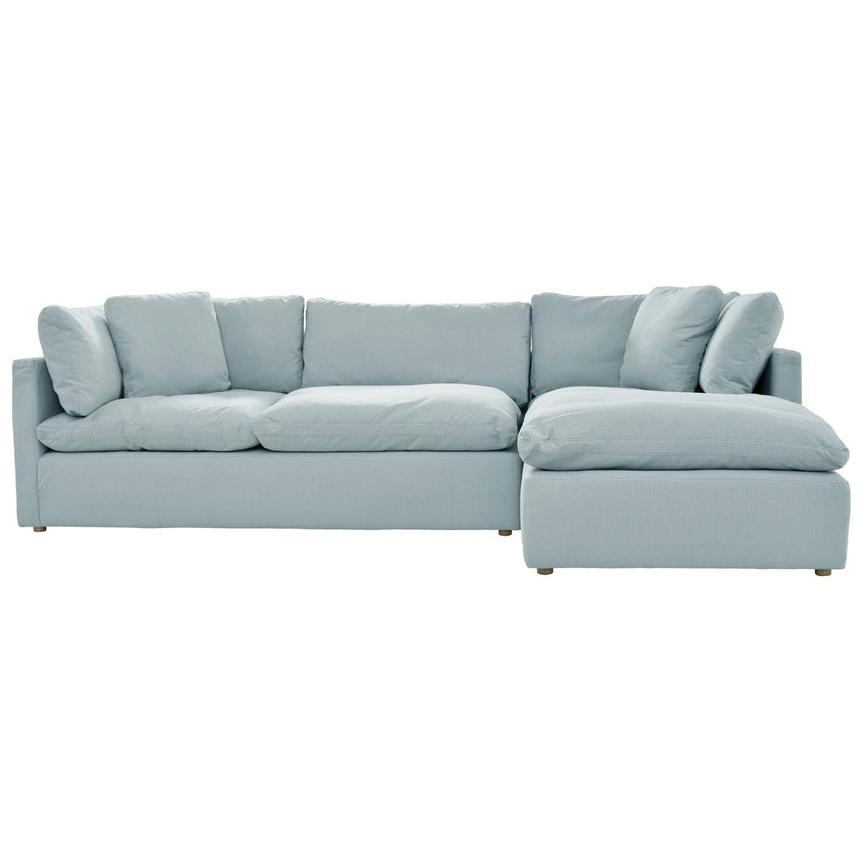 Neapolis Blue Sofa w/Right Chaise  alternate image, 2 of 5 images.