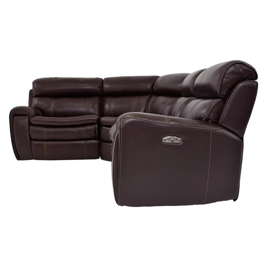 Napa Power Motion Leather Sofa w/Right & Left Recliners  alternate image, 3 of 6 images.
