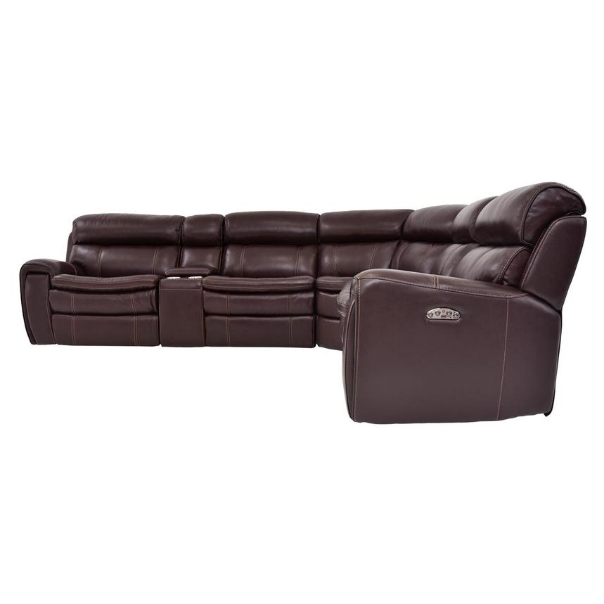 Napa Power Motion Leather Sofa w/Right & Left Recliners  alternate image, 3 of 7 images.
