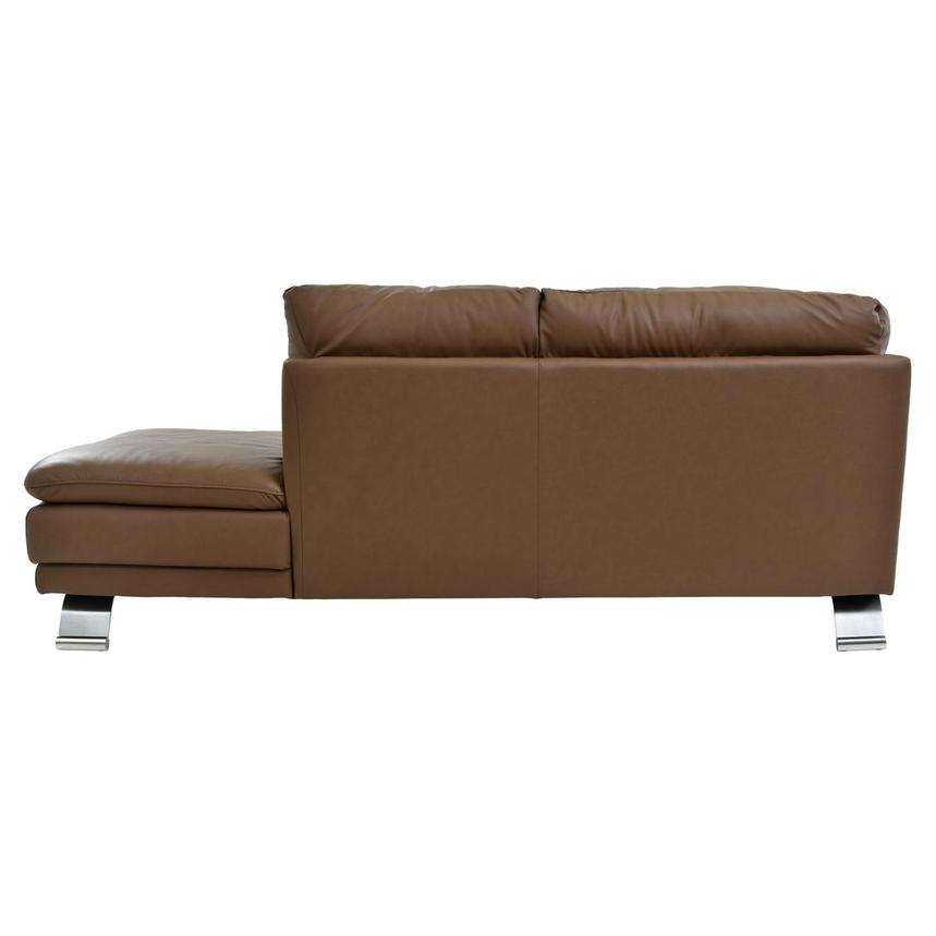 Rio Tan Leather Sofa w/Right Chaise  alternate image, 3 of 6 images.