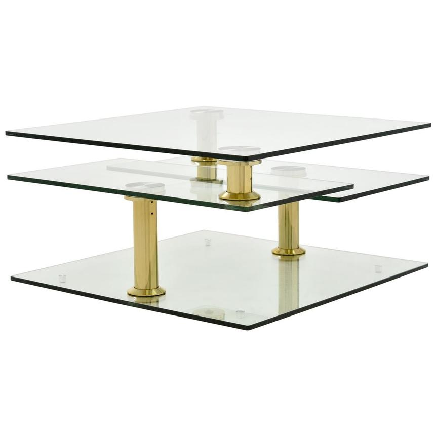 Square Clear Gold Motion Coffee Table Alternate Image 2 Of 4 Images