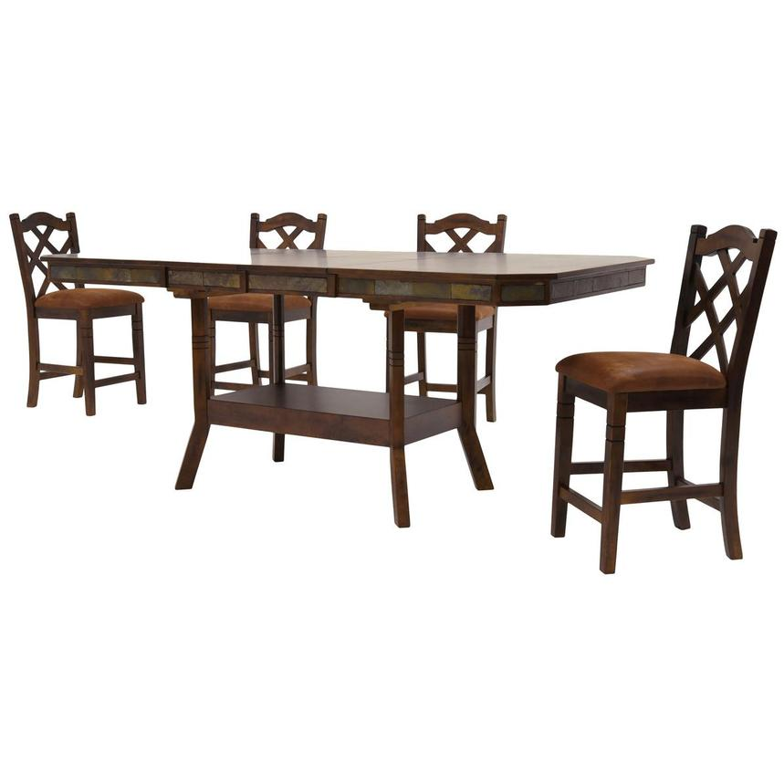 Santa Fe 5 Piece High Dining Set Alternate Image, 2 Of 11 Images.
