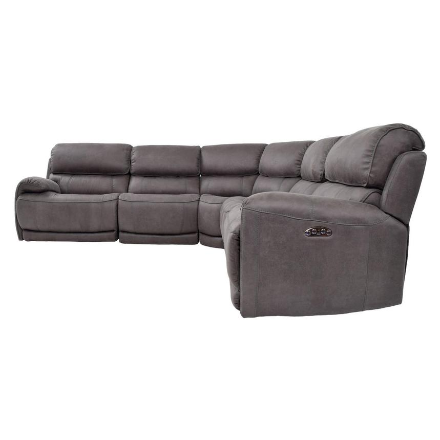 Sampson Gray Power Motion Sofa w/Right & Left Recliners  alternate image, 3 of 6 images.