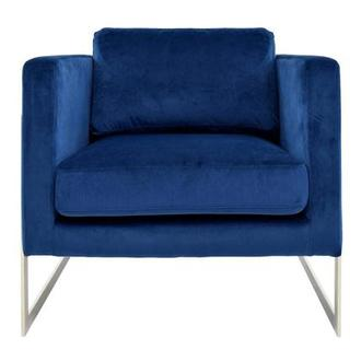 Emily Blue Accent Chair