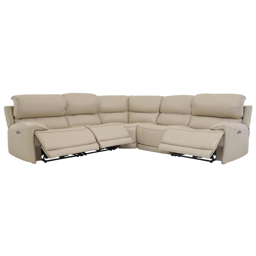 Cody Cream Power Motion Leather Sofa w/Right & Left Recliners  alternate image, 2 of 6 images.