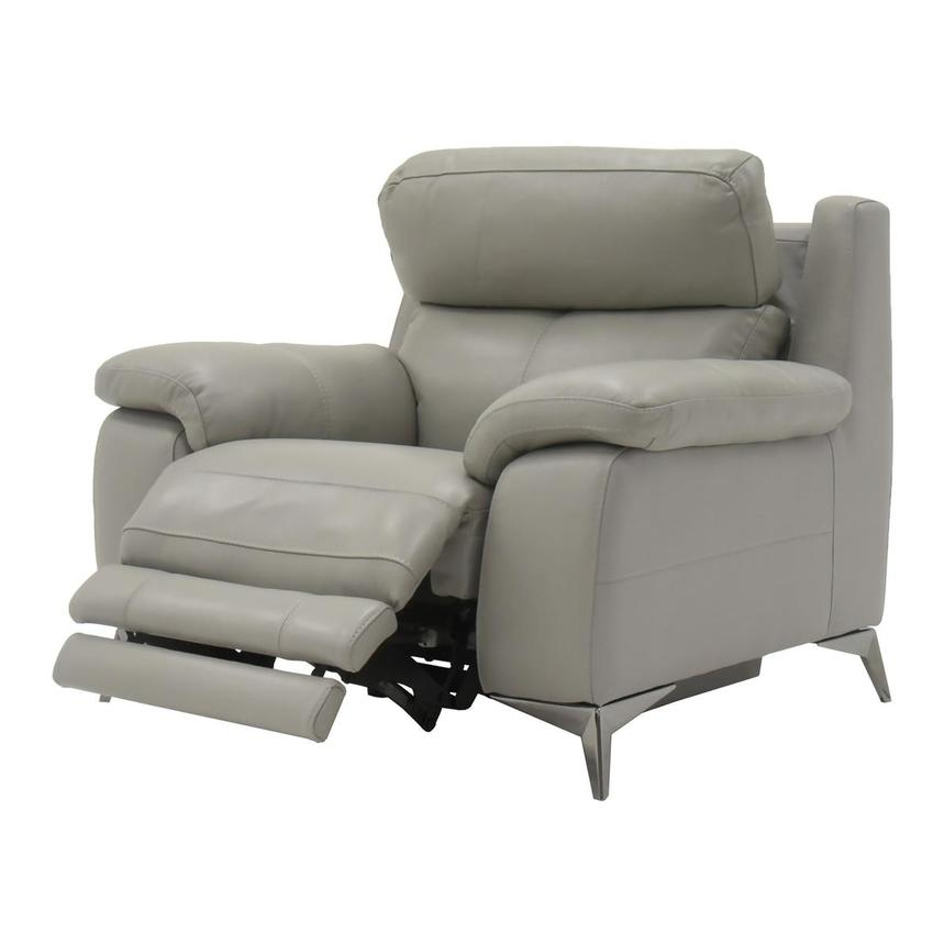 Barry Gray Power Motion Leather Recliner  alternate image, 3 of 7 images.