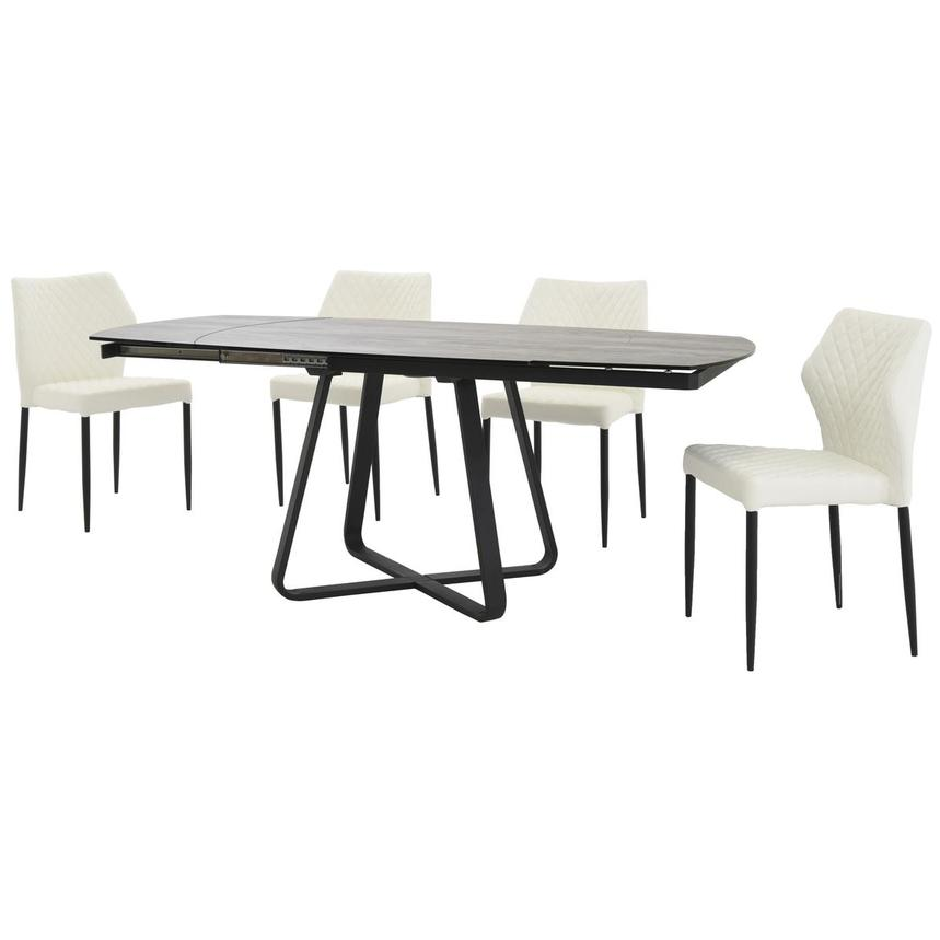 Adelle/Zari White 5-Piece Casual Dining Set  alternate image, 2 of 14 images.