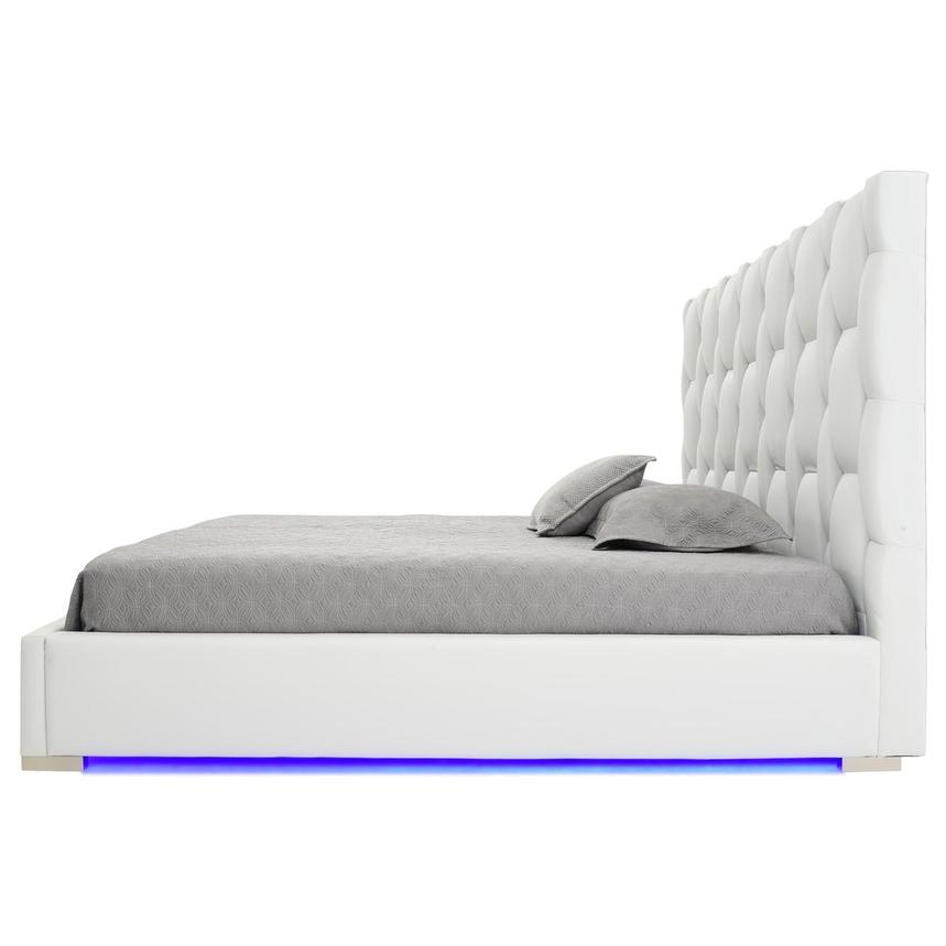Livia White King Platform Bed  alternate image, 3 of 7 images.