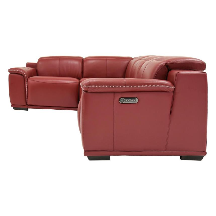 Davis 2.0 Red Power Motion Leather Sofa w/Right & Left Recliners  alternate image, 3 of 6 images.