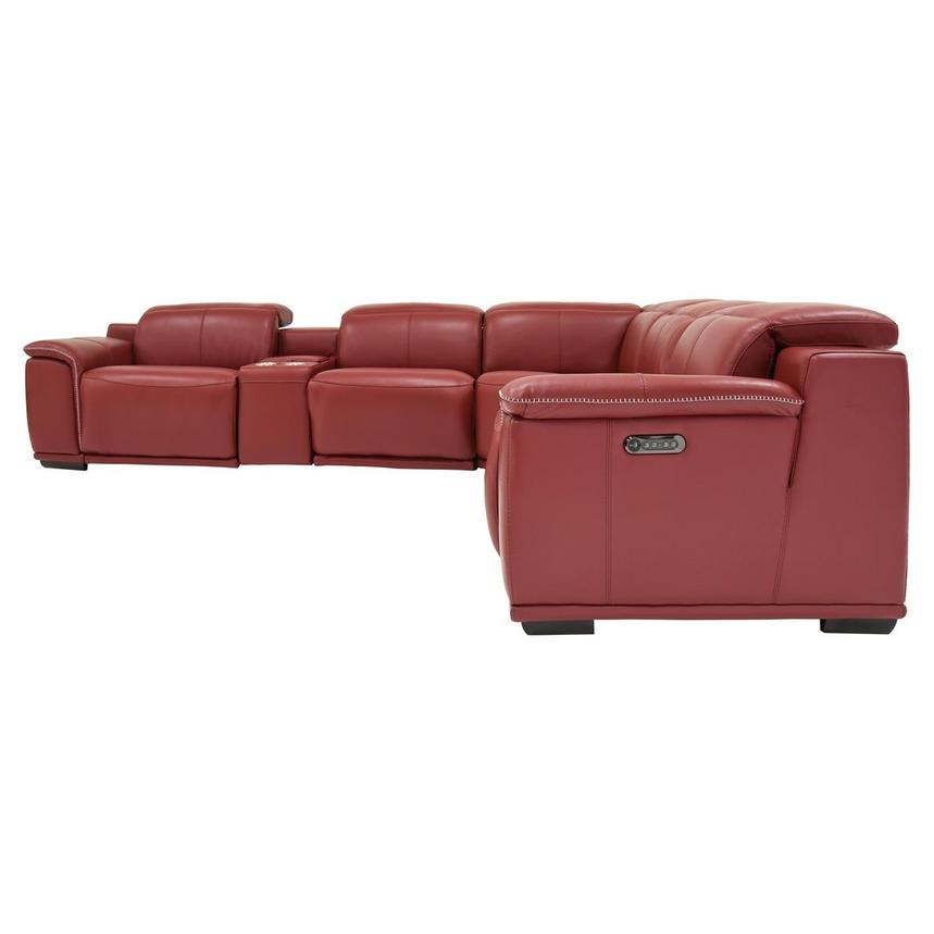 Davis 2.0 Red Power Motion Leather Sofa w/Right & Left Recliners  alternate image, 3 of 7 images.