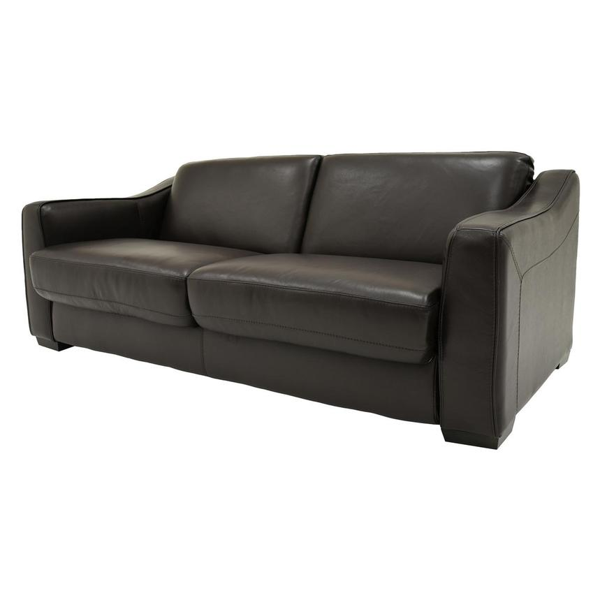 Chandler Brown Leather Sleeper El Dorado Furniture