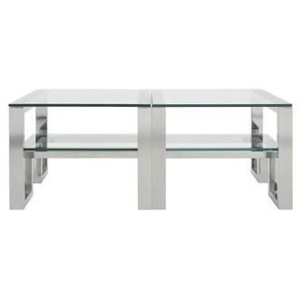 Clove White Ii Coffee Table W Casters El Dorado Furniture