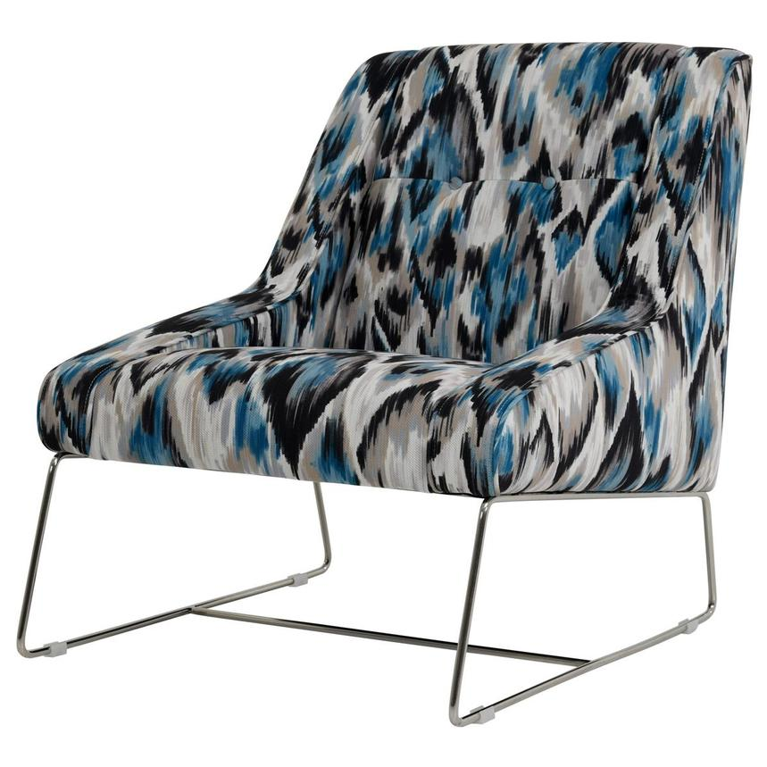 Tutti Frutti Blue Accent Chair w/2 Pillows  alternate image, 3 of 10 images.