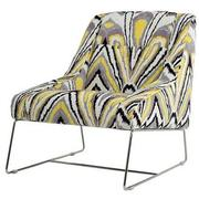 Tutti Frutti Yellow Accent Chair w/2 Pillows  alternate image, 3 of 10 images.